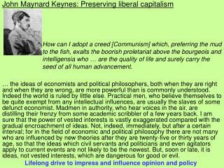John Maynard Keynes: Preserving liberal capitalism