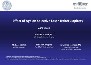 Effect of Age on Selective Laser Trabeculoplasty