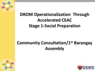 DROM  Operationalization   Through Accelerated CEAC Stage 1-Social Preparation