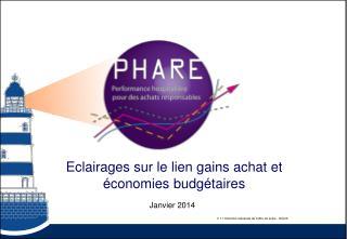 Eclairages sur le lien gains achat et économies budgétaires