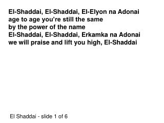 El Shaddai - slide 1 of 6