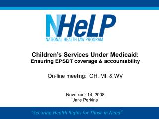 """""""Securing Health Rights for Those in Need"""""""