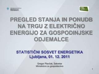 PREGLED STANJA IN PONUDB  NA TRGU Z ELEKTRIČNO ENERGIJO ZA GOSPODINJSKE ODJEMALCE