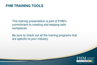 FHM TRAINING TOOLS