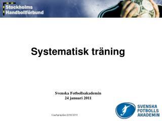 Systematisk träning