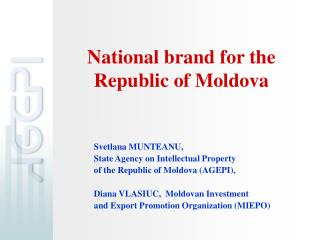National brand for the  Republic of Moldova