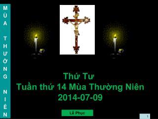 Thứ Tư Tuần thứ 14 Mùa Thường Niên 2014-07-09