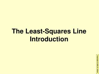 The Least-Squares Line  Introduction