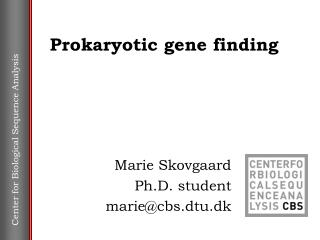 Prokaryotic gene finding