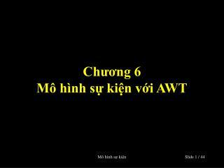 Chương 6 Mô hình sự kiện với AWT