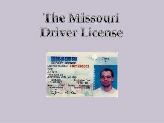 The Missouri Driver License