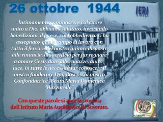 26 ottobre  1944