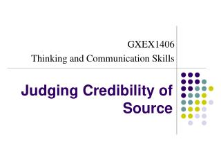 Judging Credibility of Source