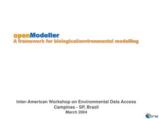 open Modeller A framework for biological/environmental modelling