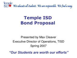 Temple ISD Bond Proposal