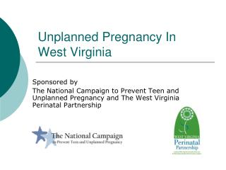 Unplanned Pregnancy In  West Virginia