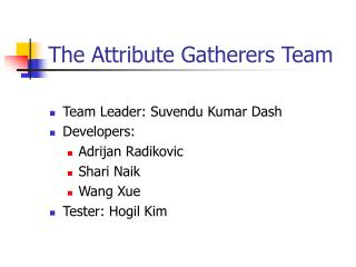 The Attribute Gatherers Team