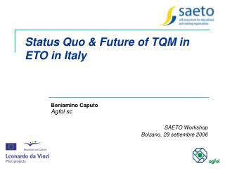 Status Quo & Future of TQM in ETO in Italy