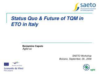 Status Quo & Future of TQM in ETO in Italy