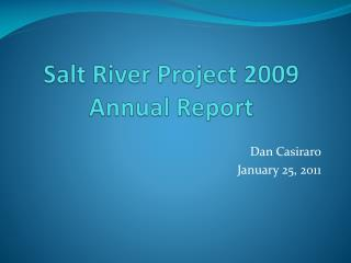 Salt River Project 2009 Annual Report