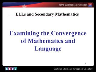 ELLs and Secondary Mathematics