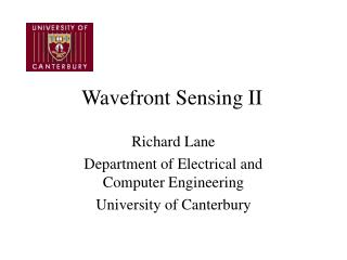 Wavefront Sensing II