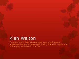 Kiah Walton