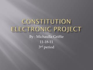 Constitution Electronic Project