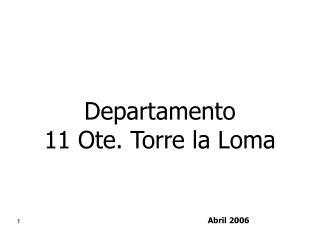 Departamento 11 Ote. Torre la Loma