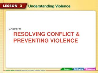 Resolving Conflict & Preventing Violence