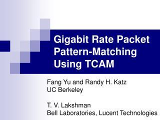 Gigabit Rate Packet Pattern-Matching Using TCAM