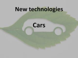 New  t echnologies
