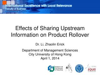 Effects of Sharing Upstream Information on Product Rollover