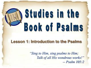 Lesson 1: Introduction to the Psalms