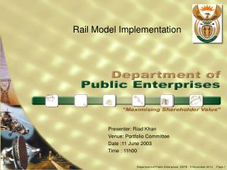 Rail Model Implementation