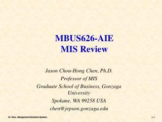 MBUS626-AIE MIS Review