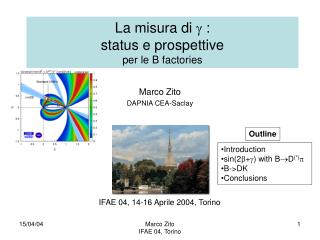 La misura di   :  status e prospettive per le B factories
