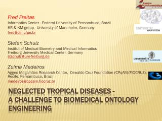 Neglected tropical diseases - A challenge to biomedical ontology engineering