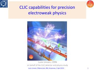 CLIC capabilities for precision electroweak physics