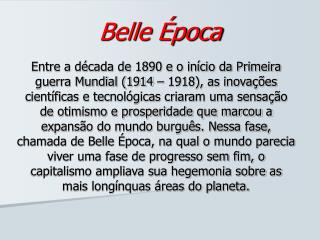 Belle Época
