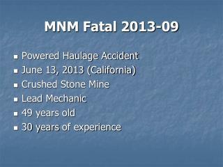 MNM Fatal 2013-09