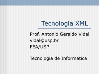 Tecnologia XML