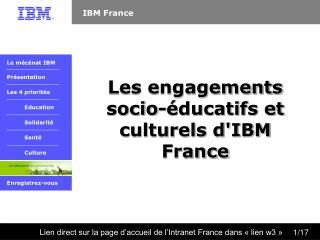 Les engagements socio-éducatifs et culturels d'IBM France