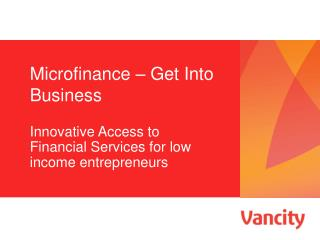 Microfinance – Get Into Business