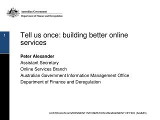 Tell us once: building better online services