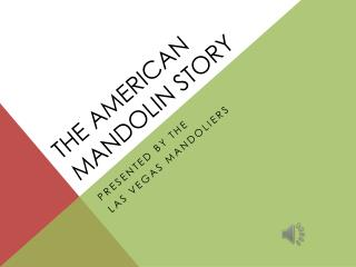 The American Mandolin Story