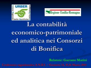 La contabilità economico-patrimoniale ed analitica nei Consorzi di Bonifica