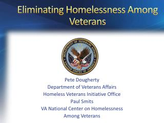 Eliminating Homelessness Among Veterans