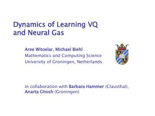 Dynamics of Learning VQ and Neural Gas