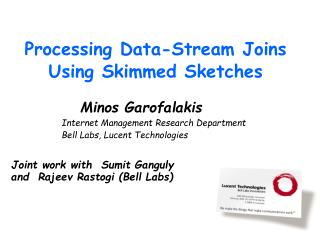 Processing Data-Stream Joins Using Skimmed Sketches